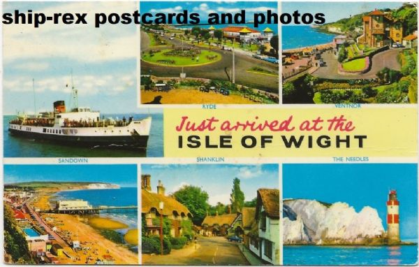 SHANKLIN (1951, British Railways), IOW multiview postcard (b)